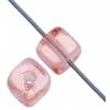 Glass Bead Cubes 5.5x5mm Rosaline - Strung